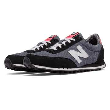 New Balance 410 Optic Pop, Black with White
