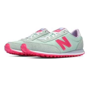 New Balance 410 70s Running Suede, Seafoam with Flamingo
