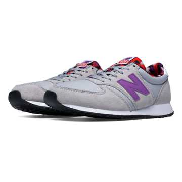 New Balance 420 Artistic Pop, Grey with Acrylic Purple