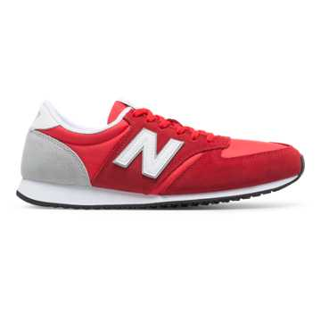 New Balance 420 New Balance, Red with White & Silver Mink