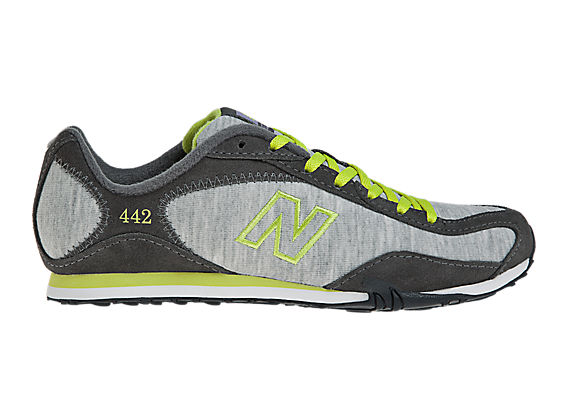 New Balance 442, Grey with Lime Green