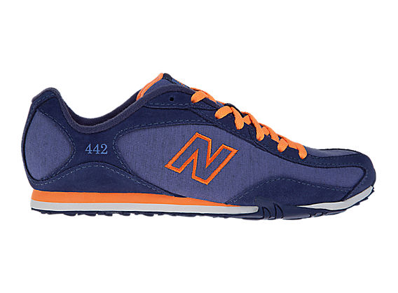 New Balance 442, Purple with Orange
