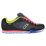 New Balance 442, Black with Neon Blue & Lime