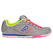New Balance 442, Grey with Diva Pink & Lime Green