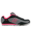 New Balance 442, Black with HI-Viz Pink