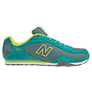 New Balance 442, Teal with Neon Yellow & Grey