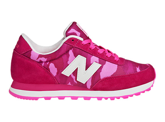 New Balance Camo 501, Diva Pink with Neon Pink & White