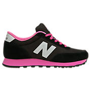 New Balance 501, Black with Hot Pink