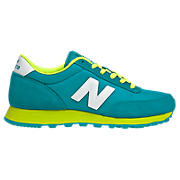 New Balance 501, Teal with Neon Green