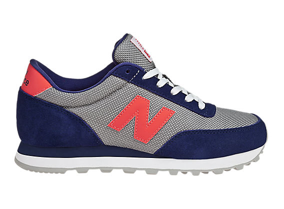 New Balance 501, Navy with Orange