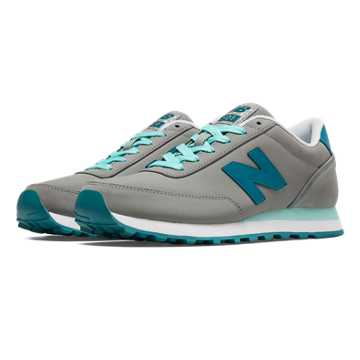 New Balance 501 Composite, Grey with Light Blue & Blue Light