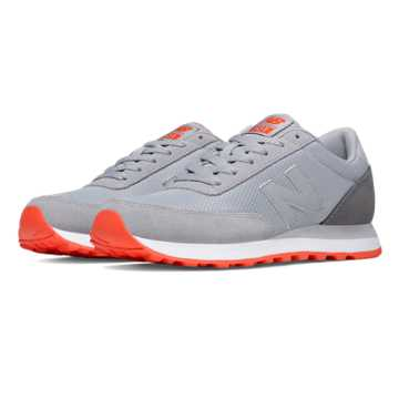 New Balance 501 Ballistic, Grey with Orange