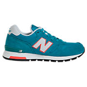New Balance 565, Aqua with Orange