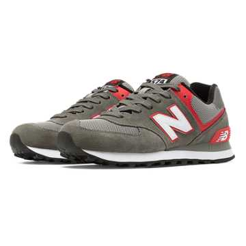 New Balance 574 New Balance, Grey with Red & White