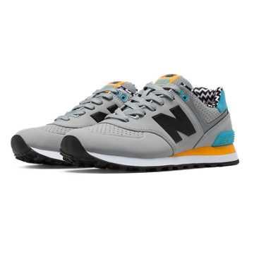 New Balance 574 Paint Chip, Light Grey with Bayside & Impulse