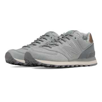 New Balance 574 Rose Gold, Silver Mink with Steel