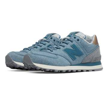 New Balance 574 Rose Gold, Jet Stream with Steel