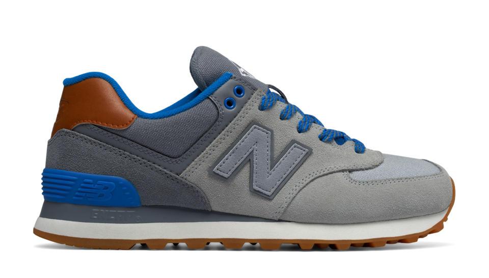 new balance 574 blue red white