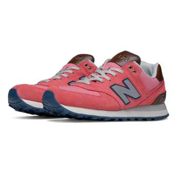 New Balance 574 Cruisin, Mineral Pink with Grey & Brown