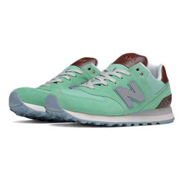 New Balance 574 Cruisin, Aqua Chalk with Seafoam & Tan