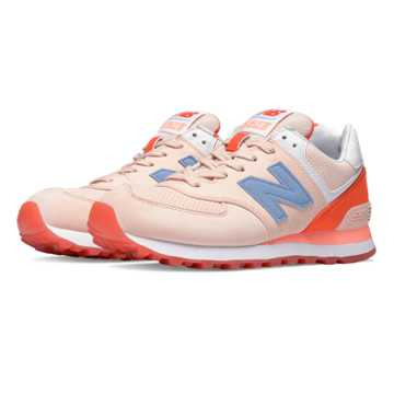 New Balance 574 State Fair, Shell Pink with Coral Glow & Twilight Purple