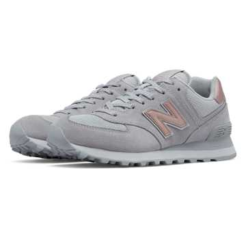 New Balance 574 Molten Metallic, Micro Chip with Rose Gold
