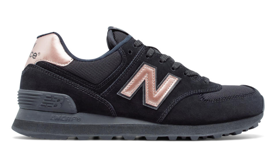 new balance 574 gold and black