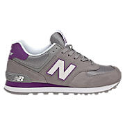 New Balance 574, Grey with Purple