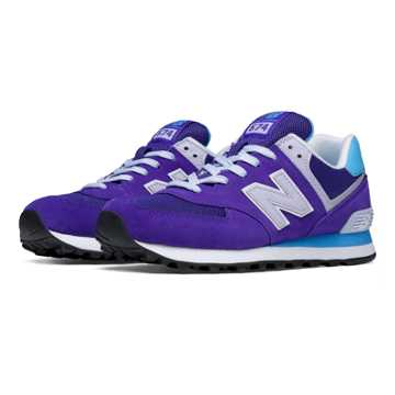 New Balance 574 New Balance, Purple with Turquoise & White