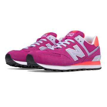 New Balance 574 New Balance, Azalea with Dragonfly & White