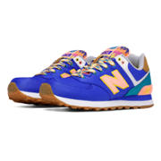 New Balance 574 Weekend Expedition, Pacific with Green & Cosmic Coral