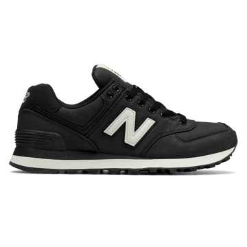 womens new balance 574 black and white