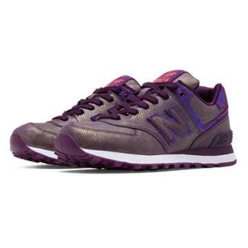 New Balance 574 Mineral Glow, Purple with Bronze