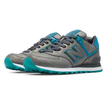 New Balance 574 Mineral Glow, Grey with Blue