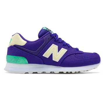 New Balance 574 Miami Palms, Deep Violet with Vivid Jade & Pollen