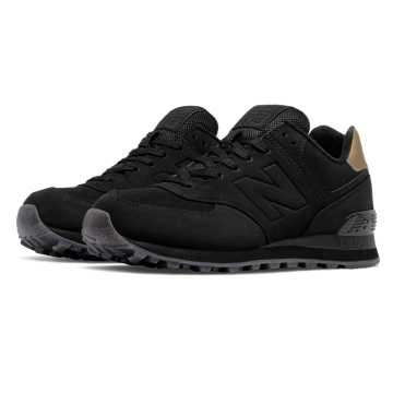 womens black new balance 574 shoes