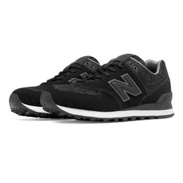 New Balance 574 Nouveau Lace, Black with Castlerock