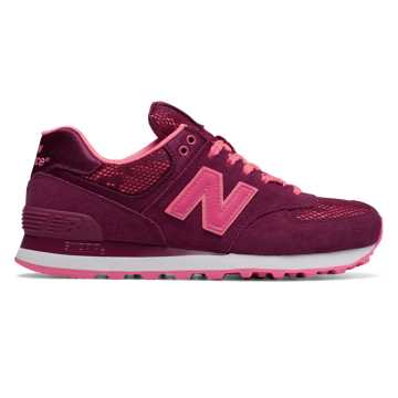 New Balance 574 Nouveau Lace, Deep Jewel with Nebula & Guava