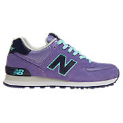 New Balance 574, Purple with Black & Aqua