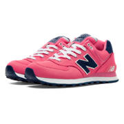 NB 574 Pique Polo Pack, Bubble Gum Pink with Navy