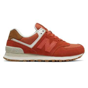 new balance classic traditionnels m574 red womens trainers