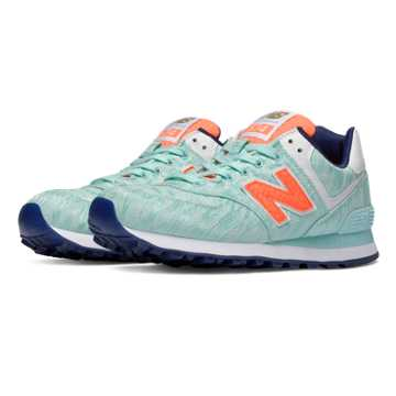New Balance 574 Summer Waves, Artic Blue with Dragonfly