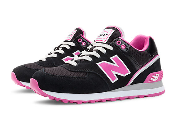new balance 574 pink and black