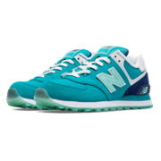 574 Glacial, Teal with Artic Blue & White