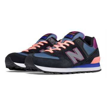 New Balance 574 Paradise Awaits, Black with Azalea