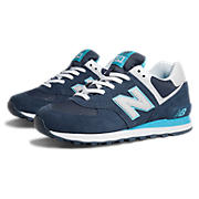 New Balance 574, Blue with Light Blue & White