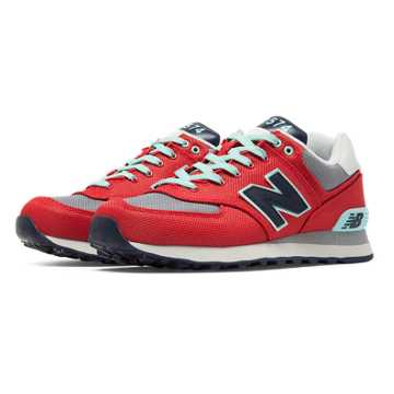 New Balance 574 Winter Harbor, Red with Light Grey & Navy