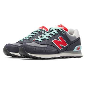 New Balance 574 Winter Harbor, Grey with Light Grey & Red