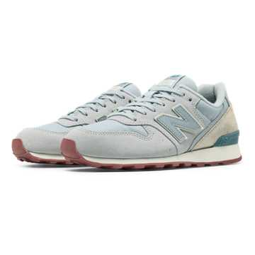 New Balance 696 New Balance, Silver Mink with Powder & Riptide