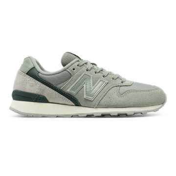 New Balance 696 New Balance, Silver Mink with Lush & Seed